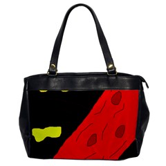 Red abstraction Office Handbags