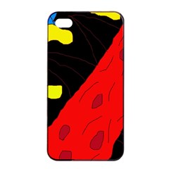 Red abstraction Apple iPhone 4/4s Seamless Case (Black)