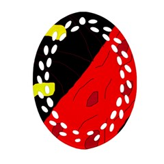 Red abstraction Ornament (Oval Filigree)