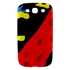 Red abstraction Samsung Galaxy S III Hardshell Case