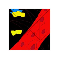 Red abstraction Acrylic Tangram Puzzle (4  x 4 )