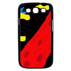 Red abstraction Samsung Galaxy S III Case (Black)