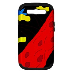 Red abstraction Samsung Galaxy S III Hardshell Case (PC+Silicone)