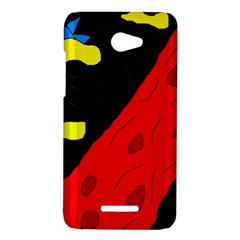 Red abstraction HTC Butterfly X920E Hardshell Case