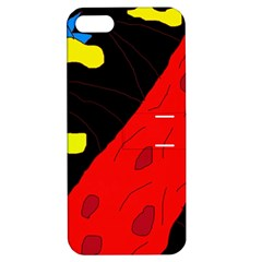 Red abstraction Apple iPhone 5 Hardshell Case with Stand