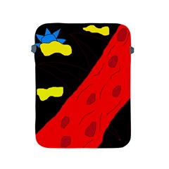 Red abstraction Apple iPad 2/3/4 Protective Soft Cases