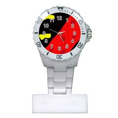 Red abstraction Plastic Nurses Watch