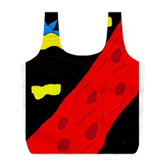 Red abstraction Full Print Recycle Bags (L)