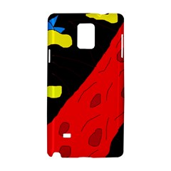 Red abstraction Samsung Galaxy Note 4 Hardshell Case