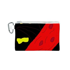 Red abstraction Canvas Cosmetic Bag (S)