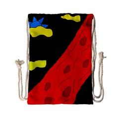 Red abstraction Drawstring Bag (Small)