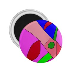 Pink abstraction 2.25  Magnets