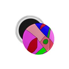 Pink abstraction 1.75  Magnets