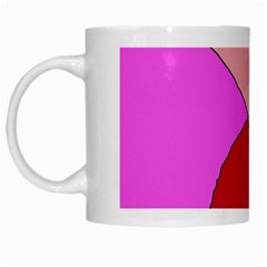 Pink abstraction White Mugs