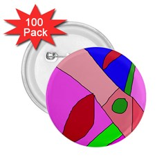 Pink abstraction 2.25  Buttons (100 pack)