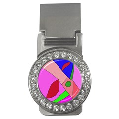 Pink abstraction Money Clips (CZ)