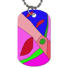 Pink abstraction Dog Tag (One Side)