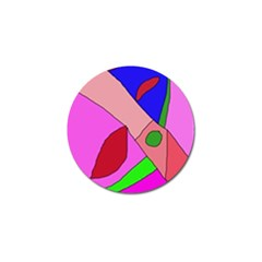 Pink abstraction Golf Ball Marker