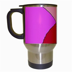 Pink abstraction Travel Mugs (White)