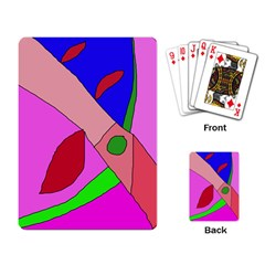 Pink abstraction Playing Card
