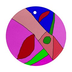 Pink abstraction Round Ornament (Two Sides)