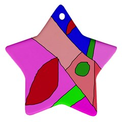 Pink abstraction Star Ornament (Two Sides)