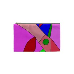 Pink abstraction Cosmetic Bag (Small)