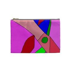 Pink abstraction Cosmetic Bag (Medium)