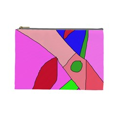 Pink abstraction Cosmetic Bag (Large)