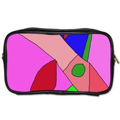 Pink Abstraction Toiletries Bags 2 Side