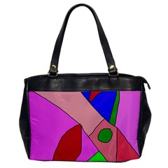 Pink abstraction Office Handbags