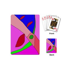 Pink abstraction Playing Cards (Mini)