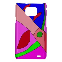 Pink abstraction Samsung Galaxy S2 i9100 Hardshell Case