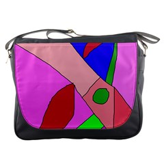 Pink abstraction Messenger Bags