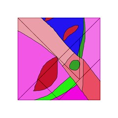 Pink abstraction Acrylic Tangram Puzzle (4  x 4 )