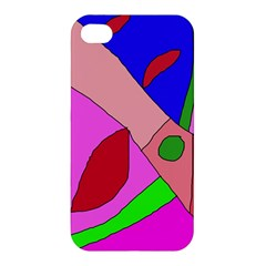 Pink abstraction Apple iPhone 4/4S Premium Hardshell Case