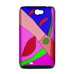 Pink abstraction Samsung Galaxy Note 2 Hardshell Case (PC+Silicone)