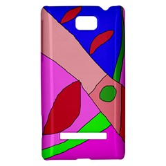 Pink abstraction HTC 8S Hardshell Case
