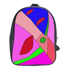 Pink abstraction School Bags (XL)