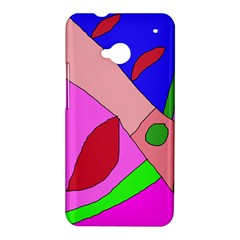 Pink abstraction HTC One M7 Hardshell Case
