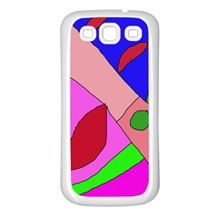 Pink abstraction Samsung Galaxy S3 Back Case (White)