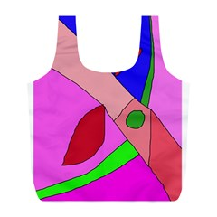 Pink abstraction Full Print Recycle Bags (L)
