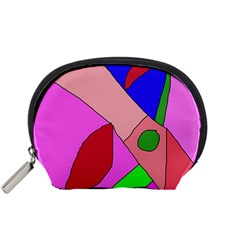 Pink abstraction Accessory Pouches (Small)