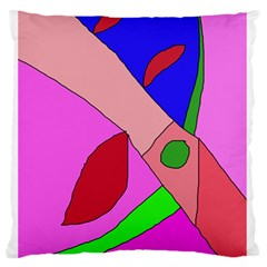Pink abstraction Standard Flano Cushion Case (One Side)