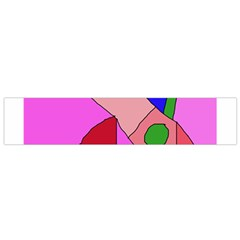 Pink abstraction Flano Scarf (Small)