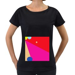 Colorful Abstraction Women s Loose Fit T Shirt (black)