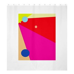 Colorful abstraction Shower Curtain 66  x 72  (Large)