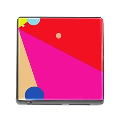 Colorful abstraction Memory Card Reader (Square)