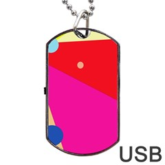 Colorful abstraction Dog Tag USB Flash (Two Sides)