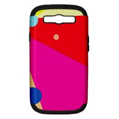 Colorful abstraction Samsung Galaxy S III Hardshell Case (PC+Silicone)